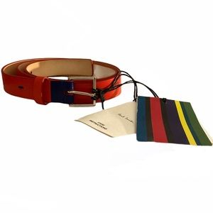 Paul Smith Embossed Red Leather Women's Belt NWT